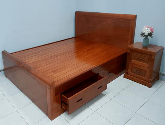 Hình ảnh của Giường ngủ gỗ xoan đào mẫu Audi