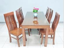 Hình ảnh của Bộ bàn ăn gỗ sồi 6 ghế màu tự nhiên