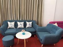 Nộ thất Phan Thiết, Sofa băng Phố Việt 180 x 80 x 80 cm (Xanh lavi)