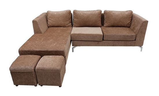 Nội thất Phan Thiết, Sofa góc Phố Việt 240 x 160 x 80 cm (Nâu)