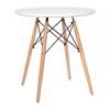 Nội thất Phan Thiết, bộ bàn tròn Eiffel chân gỗ 60 x 60 x 72 cm (Trắng)