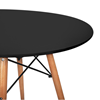 Nội thất Phan Thiết, bộ bàn tròn Eiffel chân gỗ 60 x 60 x 72 cm (Đen)