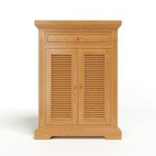 Nội thất Phan Thiết, tủ giày victoria 2 cánh lá sách gỗ sồi 80 x 40 x 100 cm (Nâu gỗ)