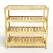 Nội thất gỗ Phan Thiết, kệ dép 4 tầng 63 x 30 x 68 cm (Màu tự nhiên)