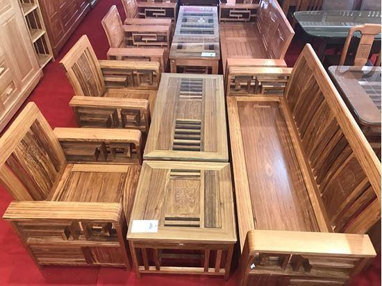 Bộ salon gỗ Hương xám (Màu tự nhiên) tại Phan Thiết