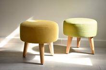 Ghế đôn tròn sofa chân gỗ tại Phan Thiết