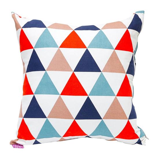 Gối tựa lưng sofa 45 x 45 cm (Sọc tam giác nhiều màu) Phan Thiết