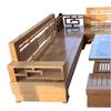 Bộ salon góc gỗ sồi Nga trung 2.4m (Vàng gỗ) tại Phan Thiết