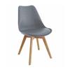 Nội thất Phan Thiết, ghế ăn DSW bọc nệm Phố Việt 49 x 55 x 80,3 cm (Xám)