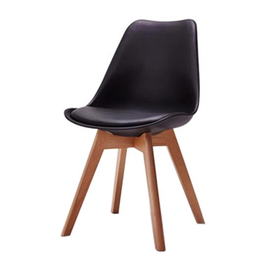 Nội thất Phan Thiết, ghế ăn DSW bọc nệm Phố Việt 49 x 55 x 80,3 cm (Đen)