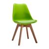 Nội thất Phan Thiết, ghế ăn DSW bọc nệm Phố Việt 49 x 55 x 80,3 cm (Xanh lá cây)