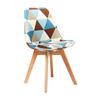 Nội thất Phan Thiết, ghế ăn DSW bọc nệm Phố Việt 49 x 55 x 80,3 cm (Caro)