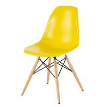 Nội thất Phan Thiết, ghế chân gỗ DSW Phố Việt 53 x 46 x 83 cm (Vàng)