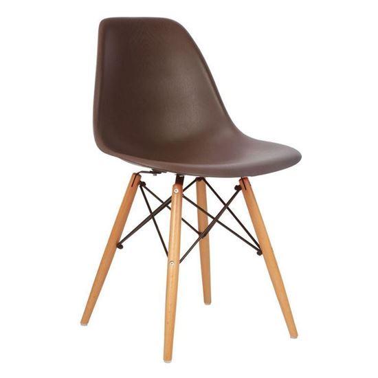 Nội thất Phan Thiết, ghế chân gỗ DSW Phố Việt 53 x 46 x 83 cm (Nâu)