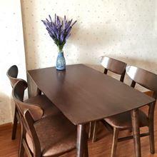 Bộ bàn ăn cao su 4 ghế mango