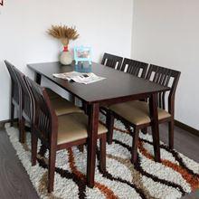 Bộ bàn ăn cao su 6 ghế Cabin