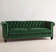 Ghế sofa tân cổ điển phong cách châu Âu tại Phan Thiết (Xanh két)